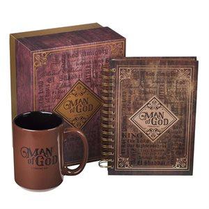 Kit Cadeau pour Homme - Tasse et Journal / Man of God Mug and Journal Boxed Gift Set for Men - 1 Timothy 6:11