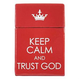KEEP CALM & TRUST GOD CARDS - A BOX OF BLESSINGS