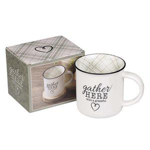Gather Here With A Grateful Heart (Ceramic Mug)