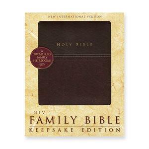 NIV Family Bible, Keepsake Edition - Imitation leather, burgundy