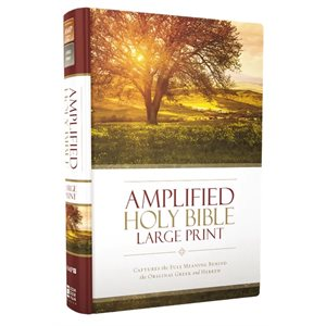 Amplified Large-Print Bible, hardcover