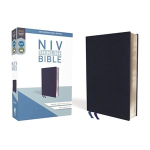 NIV Thinline Bible Navy, Bonded Leather