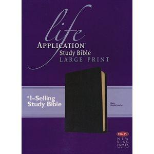 NKJV Life Application Study Bible 2nd Edition, Large Print Black Bonded Leather