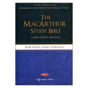 NKJV MacArthur Study Bible Large Print Hardcover