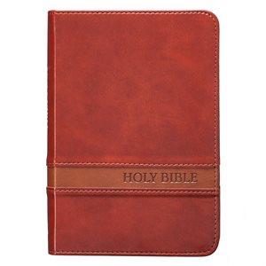 KJV Large Print Compact Bible, Saddle Brown