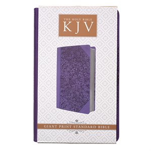 KJV Giant Print Bible, Luxleather purple