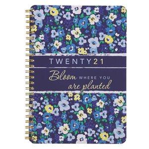 2021 Floral, Bloom, Wire-bound Planner