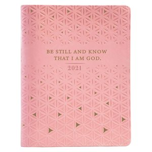 Large Daily Planner for Women 2021 Pink / Be Still