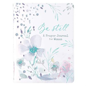 Be Still Faux Leather Prayer Journal for Women Leather Bound