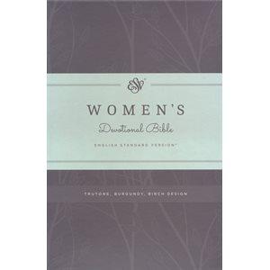 ESV Women's Devotional Bible, TruTone, Burgundy with Birch Design