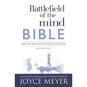 Battlefield of the Mind Bible: Renew Your Mind Through the Power of God's Word, Imitation Leather, pink