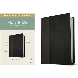 NLT Giant-Print Personal-Size Bible, Filament Enabled Edition - Soft leather-look, black / onyx