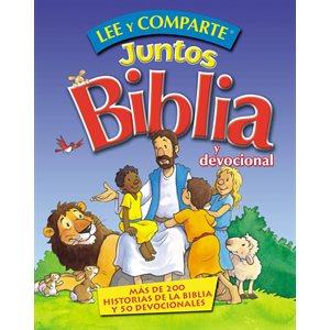 Lee y Comparte Juntos Biblia y Devocional (Más de 200 historias bíblicas y 50 devocionales)