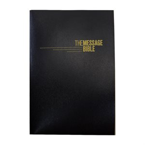 The Message Gift and Award Bible, Softcover, Black