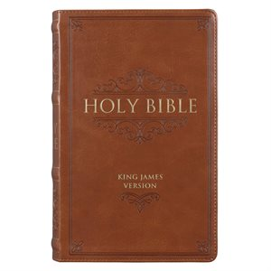 KJV Standard Giant-Print Bible--imitation leather, brown