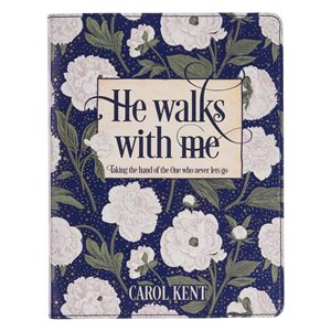 He Walks With Me - Flexcover, white floral