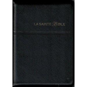 La Sainte Bible - Version Segond 1910, Couverture Souple Noire, Compact Avec Fermeture Éclair