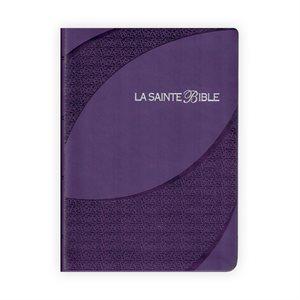 La Sainte Bible - (LSG 1910) Caractère Moyen, Violet avec Onglets, Parole de Jésus en rouge