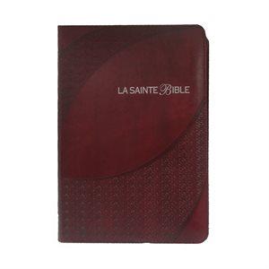 La Sainte Bible Louis Segond 1910 - Caractères Moyens - Bordeaux (onglets et fermeture éclair)