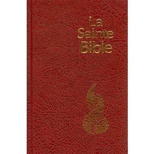 La Sainte Bible - Nouvelle Édition de Genève (NEG), Compacte, Couverture rigide rouge, tranche blanche