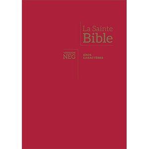 La Bible, version NEG, avec gros caractères - Couverture Rigide Rouge