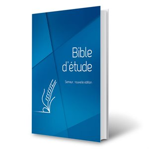 Bible d'Étude Semeur, Nouvelle Édition - Couverture Rigide Bleue, Tranche blanche