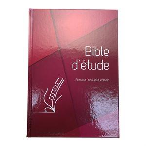 La Bible d'Étude Semeur, Nouvelle Édition (Couverture rigide rouge, Tranche blanche)