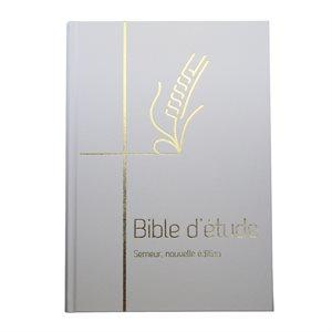 Bible d'Étude Semeur, Nouvelle Édition - Couverture Rigide Blanche, Tranche Dorée