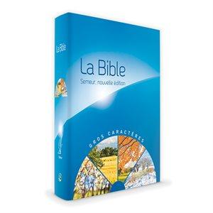 La Bible Version Semeur 2015 avec Gros Caractères - Couverture Rigide Bleue illustrée