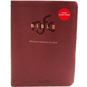 La Bible Version Nouvelle Français Courant, Gros Caractères, Rouge, Édition Catholique