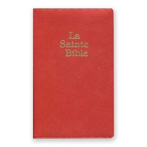 LA SAINTE BIBLE - VERSION DARBY, SOUPLE, ROUGE, SIMILICUIR, FORMAT PETIT (AVEC COFFRET)